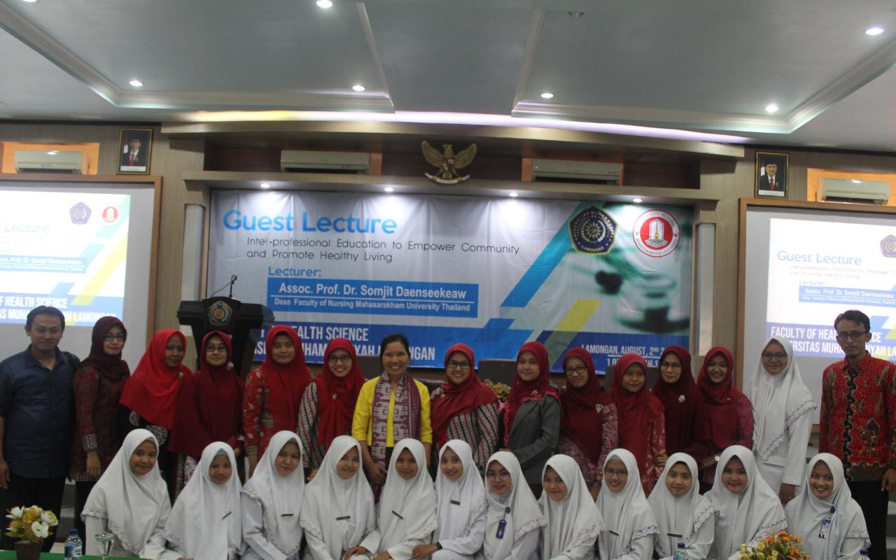 Sharing with Mahasarakham University Thailand about Interprofessional Nursing Collaboration